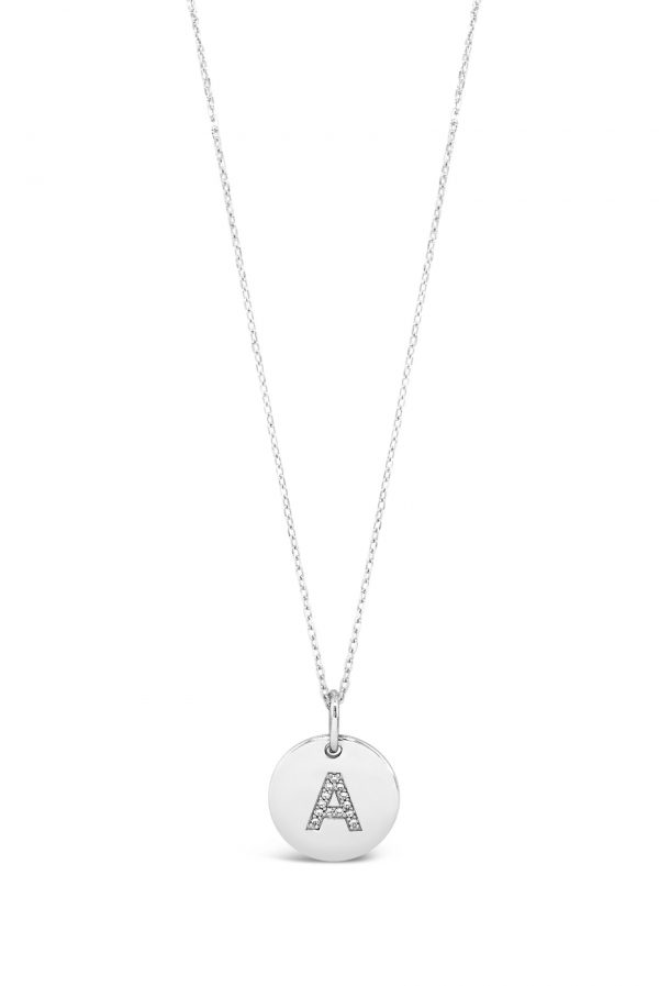 Absolute Sterling Silver Initial Necklace Letter A
