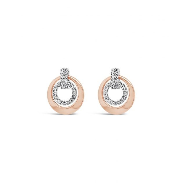 ABSOLUTE E2079MX ROSE GOLD MIX EARRINGS