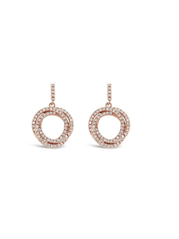 ABSOLUTE E2077RS ROSE GOLD EARRINGS