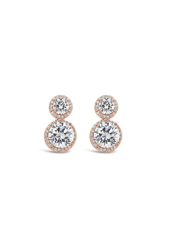 ABSOLUTE E2095RS ROSE GOLD EARRINGS