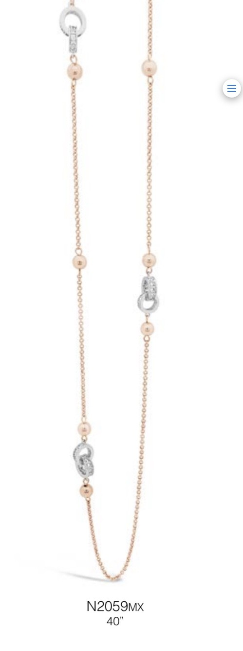 ABSOLUTE N2059MX ROSE GOLD NECKLACE
