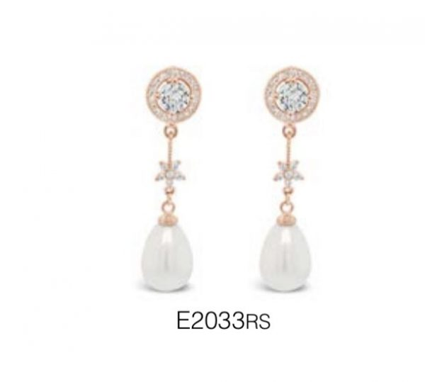 ABSOLUTE E2033RS ROSE GOLD EARRINGS