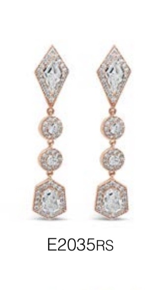 ABSOLUTE E2035RS ROSE GOLD EARRINGS