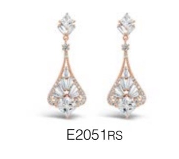 ABSOLUTE E2051RS ROSE GOLD EARRINGS