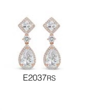 ABSOLUTE E2037RS ROSE GOLD EARRINGS