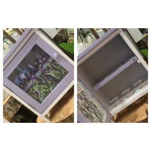 Lavender Egg Holder Cabinet