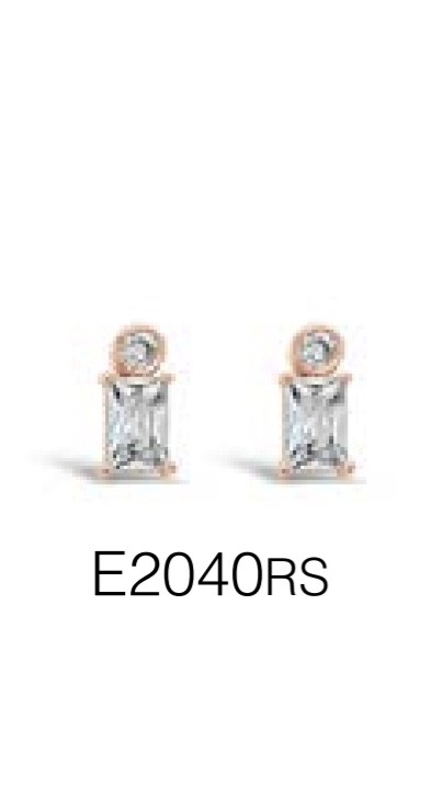ABSOLUTE E2040RS ROSE GOLD EARRINGS