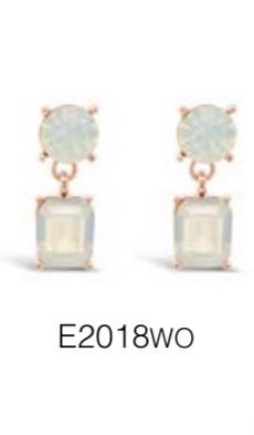 ABSOLUTE E2018WO ROSE GOLD EARRINGS