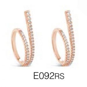 ABSOLUTE E092RS ROSE GOLD EARRINGS