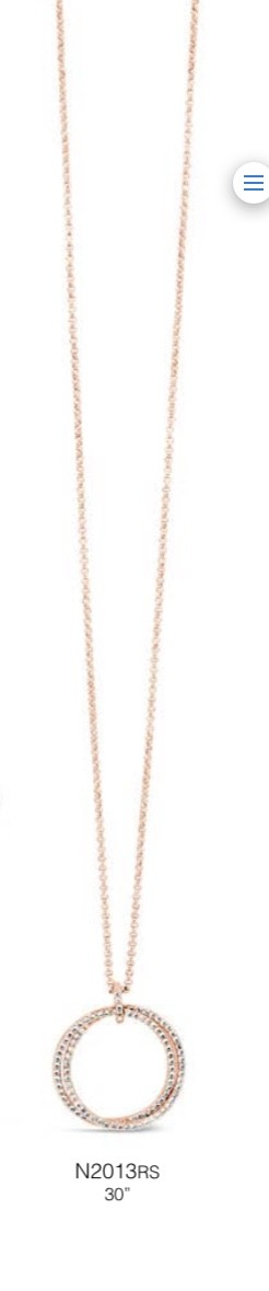 ABSOLUTE N2013RS ROSE GOLD NECKLACE