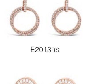 ABSOLUTE E2013RS ROSE GOLD EARRINGS