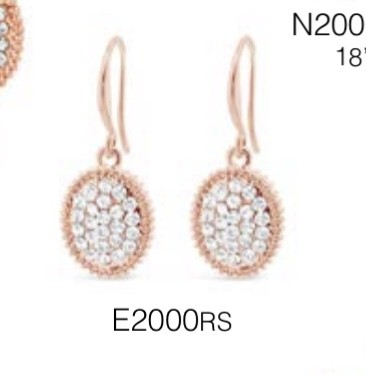 ABSOLUTE E2000RS ROSE GOLD EARRINGS