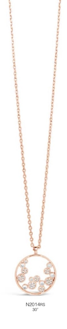 ABSOLUTE N2014RS ROSE GOLD NECKLACE