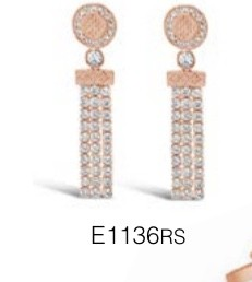 ABSOLUTE E1136RS ROSE GOLD EARRINGS