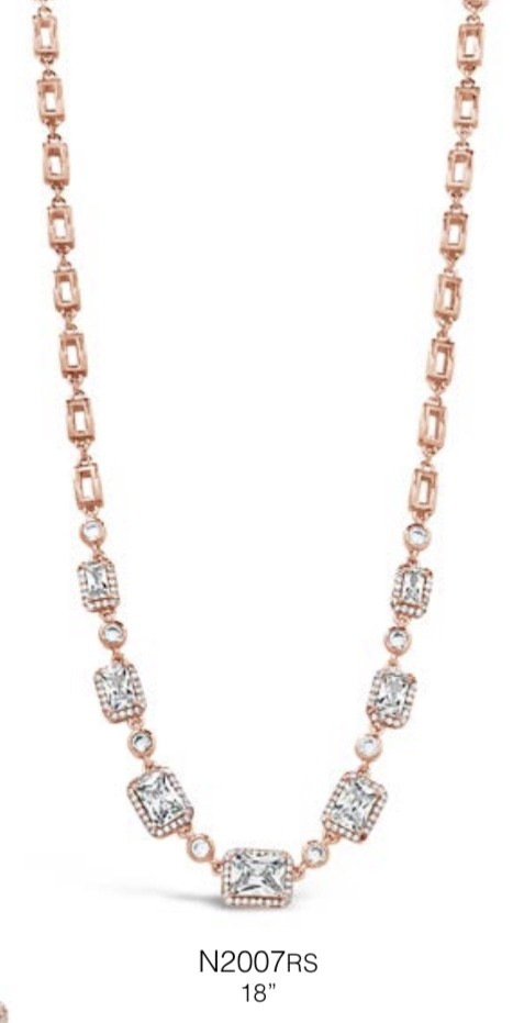 ABSOLUTE N2007RS ROSE GOLD NECKLACE