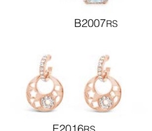 ABSOLUTE E2016RS ROSE GOLD EARRINGS