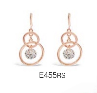 ABSOLUTE E455RS ROSE GOLD EARRINGS