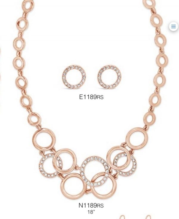 ABSOLUTE N1189RS ROSE GOLD NECKLACE