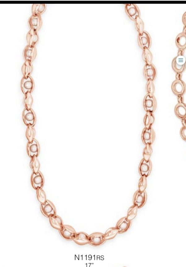 ABSOLUTE N1191RS ROSE GOLD NECKLACE