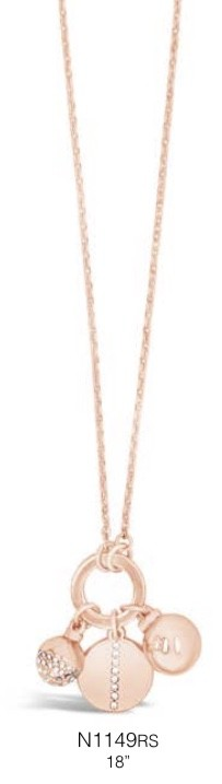 ABSOLUTE N1149RS ROSE GOLD NECKLACE