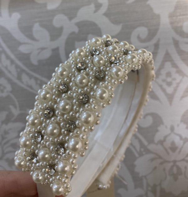 Beautiful Pearl & Crystal Headband