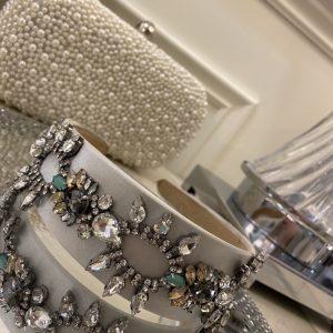 Silver & Turquoise Multi Coloured Jewelled Headband