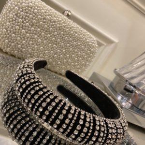 Beautiful Black Crystal Headband