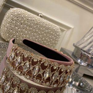Pink & Gold Jewelled Headband