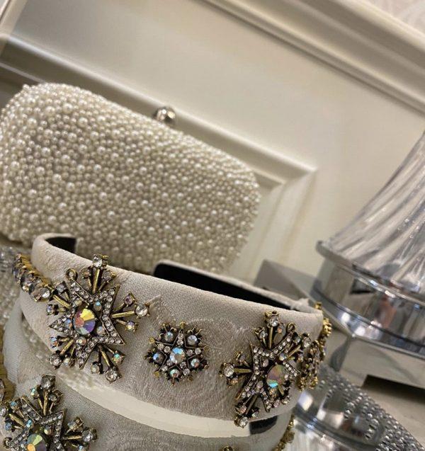 Beautiful White Jewel Headband