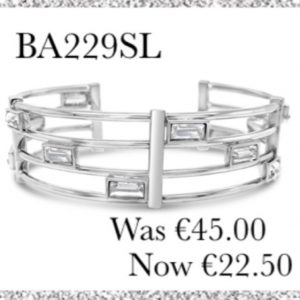 ABSOLUTE SALE SILVER PLATED BANGLE BA229SL