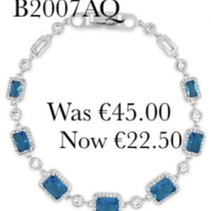 Absolute SALE B2007AQ Silver Plated Bracelet