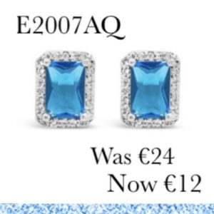 Absolute E2007AQ Silver Plated Earrings